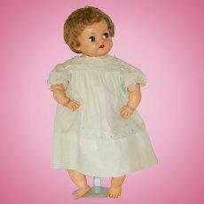 "Vintage 21"" Ideal Magic Flesh Baby Doll Circa 1950"