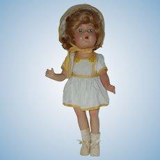 "13""Rare Composition Vogue Make Up Doll 1940's"
