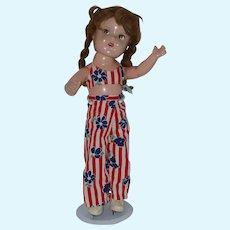 "Vintage 15"" Composition Doll"