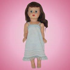 "Vintage 14"" Italian Celluloid Doll Circa 1950"