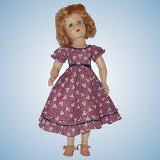 "Vintage 17"" Hard Plastic Doll Circa 1940's"
