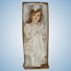 "Vintage 15"" Hard Plastic Horsman Bride Doll  Near Mint In Box  Circa 1940's"