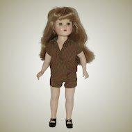 "Vintage 18"" Hard Plastic Doll Circa 1950"