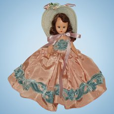 """6 1/2"""" Hard Plastic Nancy Ann Story Book Doll  #411 of the All-Time Hit Parade Series  Circa 1949"""