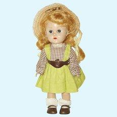 "Vintage 8"" Vogue Ginny Doll  Circa 1954  Straight Leg Walker"