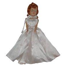"""11"""" Hard Plastic Bride Doll  Circa 1940-1950"""