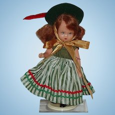"51/2"" Nancy Ann Storybook Doll Hard Plastic Circa 1960"