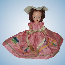 "Vintage 51/2"" Hard Plastic StoryBook Type Doll"