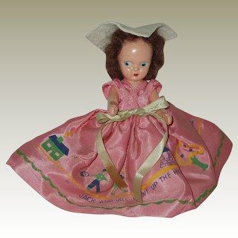 "Vintage 51/2"" Hard Plastic StoryBook Type Doll"