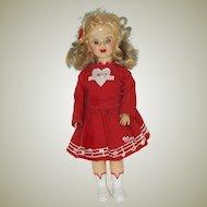 """Vintage 71/2"""" Hard Plastic Mary Hartline Doll  Circa 1952"""
