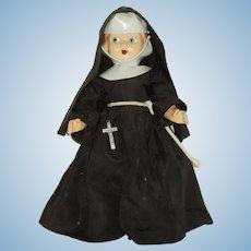 "Vintage 13"" Composition Nun Doll"