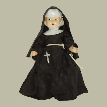 "Vintage 13"" Composition Nun Doll"