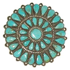 Vintage Zuni Cluster Pin/Pendant Combination Circa 1950