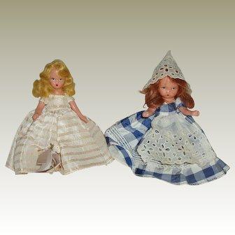 """2 5/1/2"""" Bisque Nancy Ann Story Book dolls"""