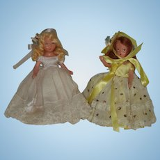 "2  61/2"" Painted Bisque Nancy Ann Story Book Dolls"
