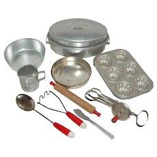 10 Pieces Toy Cookware Circa 1960's