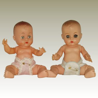 """Woolworth's 8"""" Vinyl Baby Marie Doll  And Friend Circa  1950's"""