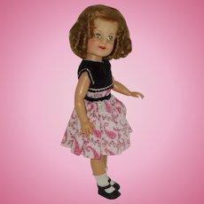 "19"" Vinyl  Shirley Temple Doll In Original Tagged Dress Circa 1958-1960"
