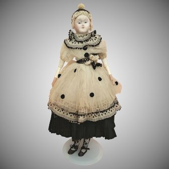 """Early Rare - 19"""" French Carton Doll c.1820"""