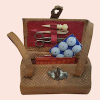 Antique French Fashion Sewing Necessaire c.1870