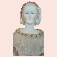 Empress Eugenie, ABG Early German Bisque with Snood, 23 inches tall