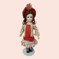 Roullet & Decamps L'Intrepide Bebe - Antique Key Wind Walking Doll - 13.5 inches Tall