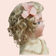 Outstanding Blond Antique Mohair Wig - Size 16 -  Fits 32 - 36 inch Doll