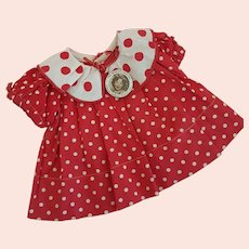 Vintage Tagged Shirley Temple Dress with Authentic Pin - Fits 18 inch Doll