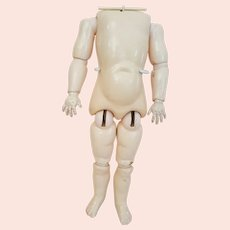 Antique Heinrich Handwerck Marked Body - Size 1 - Body is 13.75 inches Tall