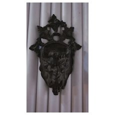 Bacchus and Grape Leaves Cast Iron Match Holder