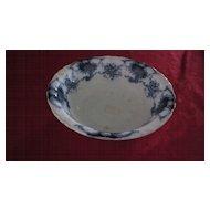"""Flow Blue J & G Meakin Louvre Pattern, 9"""" Serving Bowl"""