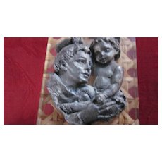 St. Christopher Pewter and Lucite Easel Devotional, Italy
