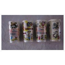 Deka Plastics Terrytoons Tumblers, 6 oz., Set of 4 New/Old Stock