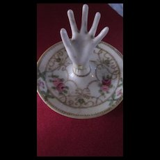 Hand Painted Nippon Hand Ring Tray