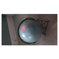 "Replogle 12"" Reference Globe, 1940's on Wire Stand"