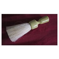 Round Celluloid Handle Garment Brush