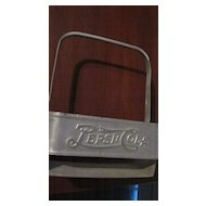 Tin Pepsi Cola Embossed 6 Pack Carrier