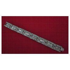 Art Deco Silver, Paste Bracelet