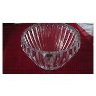 "Large Bohemia Glass Crystal Bowl/Vase, 7 1/4"" X 9 1/2"""