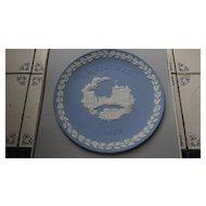 1969 Wedgwood  Blue and White Jasper Christmas Plate