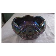 Amethyst Carnival Glass Bowl by Smith