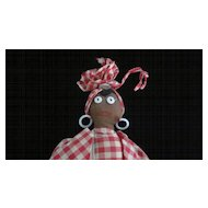 Folk Art Black Mammy Cloth Doll