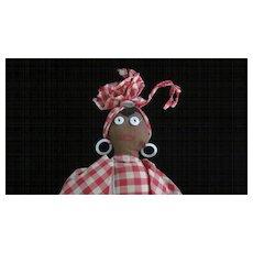 Folk Art Black Mammy Cloth Doll