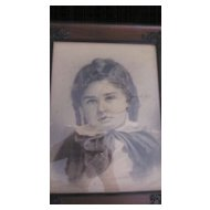Victorian Framed Sepia Tone Boy's Portrait