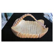Vintage Armadillo Hide Basket