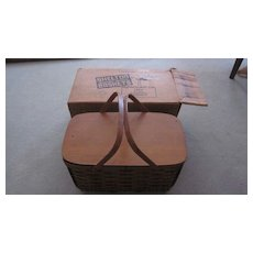 1940's Shelton Splint Basket/Picnic Kit, Original Box