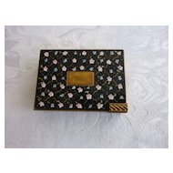 Volupte Black Flowered Enamel Rectangular Carryall