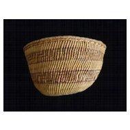 Klamath Indian Coiled Soft Side Basket