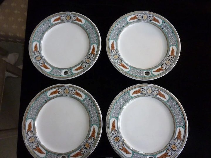 Victorian Warming Dinner Plates 4 Available & Victorian Warming Dinner Plates 4 Available : Aislinne Antiques ...