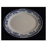 Keeling & Co Romney Platter, Blue and White Transferware